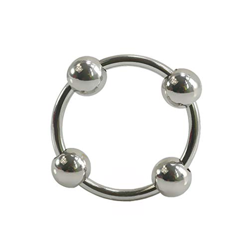 Ring Steel Stainless Skin Steel - C-Bin1 Silver Stainless Steel Round Ring, Male Multifunction Fixed Ring Portable Metal Loop (Size : 4.0CM)