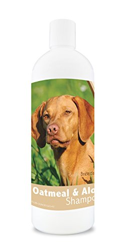 Healthy Breeds Dog Oatmeal Shampoo with Aloe for Vizsla - Over 75 Breeds - 16 oz - Mild and Gentle for Itchy, Scaling, Sensitive Skin - Hypoallergenic Formula and pH Balanced (Best Dog Food For Vizsla)