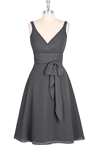 Linie Elegant Nazisse Mini Schaerpe A Chiffon Festkleid Traeger Ballkleid Abendkleid Ausschnitt V Ivydressing Partykleid zwei 1qEwd1