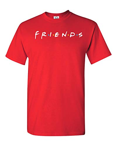 Uzair Friends TV Show T-Shirts (Red, 3XL)