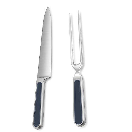 Universal Expert Carving Set 2-Piece Modern Home Kitchen Stainless Steel Carving Knife/Fork