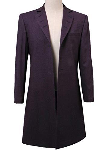 GOTEDDY Doctor Matt Smith Costume Cosplay Frock Coat (Men's, Purple, -