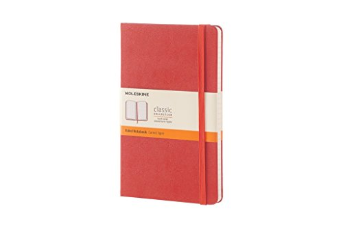 Moleskine Classic Notebook, Large, Ruled, Coral Orange, Hard