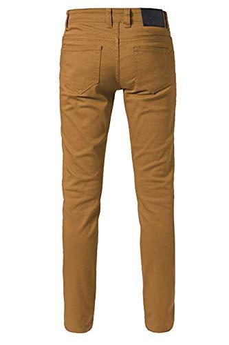 URBAN X Men's Color Skinny Jeans with Spandex (28W x 30L, Wheat)