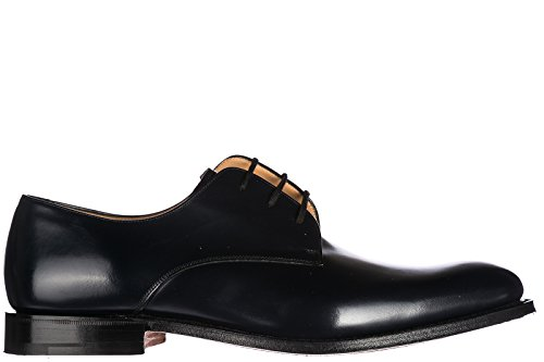 Churchs Mens Classic Leather Lace up Laced Formal Shoes Oslo Derby Blu QlL9z3N