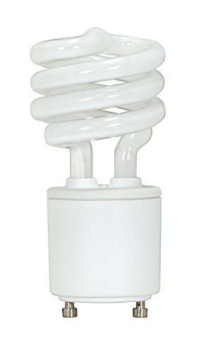 - Satco S8202 - 11 Watt CFL Light Bulb - Compact Fluorescent - 40 W Equal - 2700K Warm White - - GU24 Base