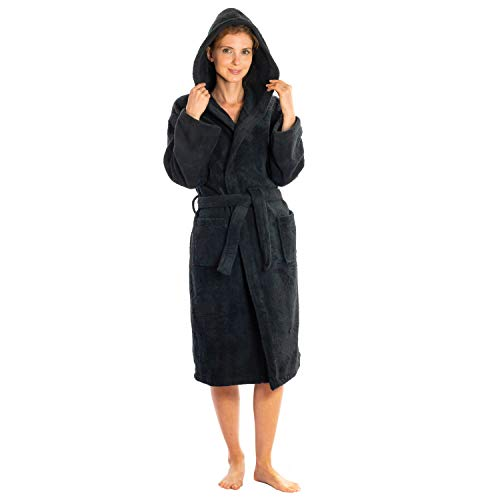 Silken Kids Teenagers Kids Boys Hooded Bath Robe Unisex 100% Turkish Cotton (Large 36
