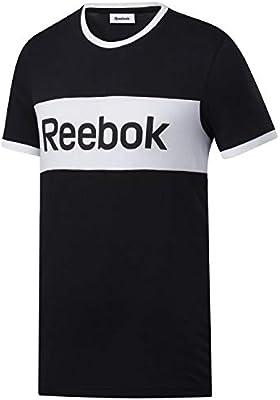 Reebok Te Ll Blocked SS tee Camiseta, Hombre, Negro, L: Amazon.es: Deportes y aire libre