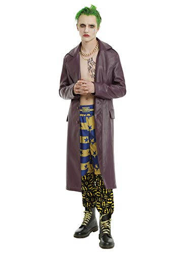Halloween Sale - The Joker Suicide Squad Jared Leto Purple Crocodile Pattern Leather Trench Coat Jacket - Discount Deal (2XL)
