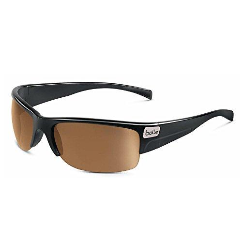 Bolle Zander Sunglasses, Shiny Black/Modulator V3 Golf Oleo - Bolle Modulator