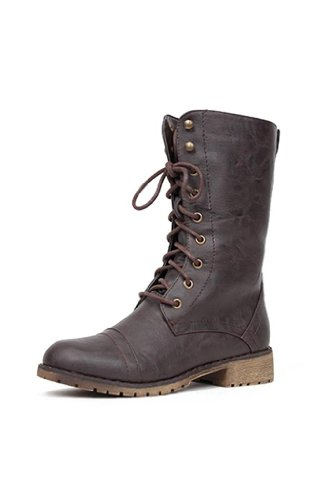 Tigers Lug 11 0 Womens 11v8 Military Lace Boot Twin Premium 7 up Brown Combat Lug 5dEqP