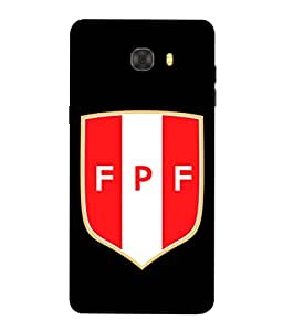 ColorKing Football Peru 08 اسود shell case cover for Samsung C7 Pro