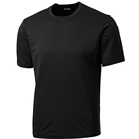 DRIEQUIP Men's Big & Tall Short Sleeve Moisture Wicking Athletic T-Shirts 1