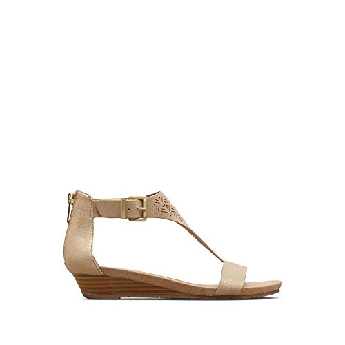 e35f1afe877 Kenneth Cole REACTION Women s Great Gal 3 Perf Low T-Strap Wedge Sandal