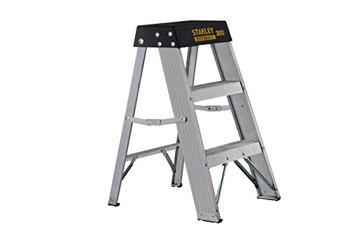 Stanley SXL2010-02 ft 300-lb FatMax Aluminum Step Stool 02-Foot 300-Pound Load Capacity, 2', Black