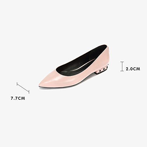 LIANGJUN Women's Shoes Ankle Boots Outdoors Low Heels Spring, 5 Sizes, 3 Colors Available ( Color : Black , Size : EU37=UK5=L:235mm ) Pink