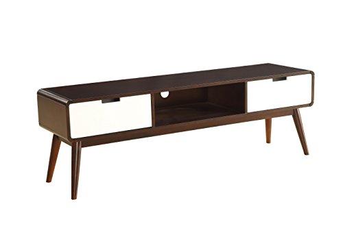 Acme Wood (ACME Furniture Acme 91510 Christa TV Stand, Espresso & White, One Size)