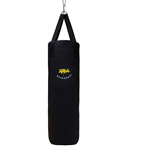 40 Inche Unfilled Punching Bag, MMA Boxing Training Bags Suitable for The Whole Family to Use Indoor, Black