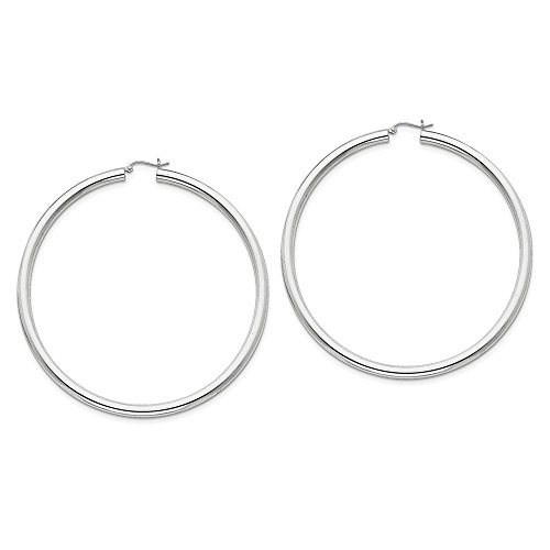 Designs by Nathan 925 Silver Classic Seamless Tube Hoop Earrings, Choice of Sizes
