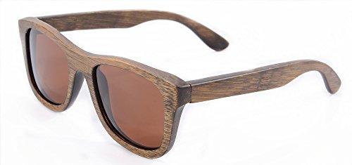 de Gafas Anteojos de de y de de Gafas Espejos de Madera Madera Brown Gafas Bambú los Z6016 SHINU Gafas Bamboo Sol Sol de Vintage de Lentes Hombres Polarizadas Sol Brown aqZRgawE