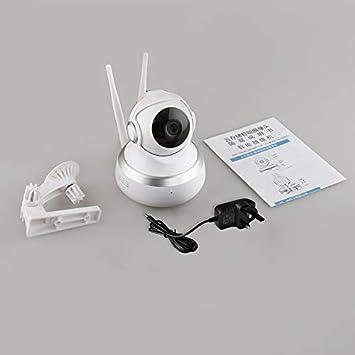 Opinión sobre Stock - Cámara de red IP inalámbrica de tamaño pequeño 1080P Full HD WIFI IP de seguridad para el hogar, visión nocturna por infrarrojos, enchufe británico