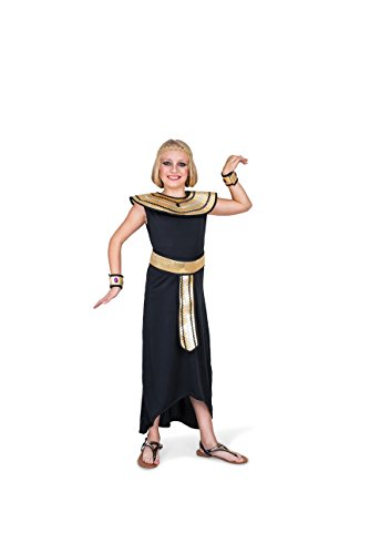Egyptian Queen Costume - Halloween Girls Ancient Royal, Black and Gold, Small