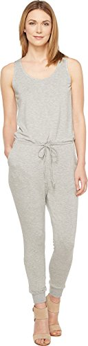 Culture Phit Women's Madison Luxe French Terry Sleeveless Jumper Heather Grey Jumpsuit (Terry Jumpsuit)