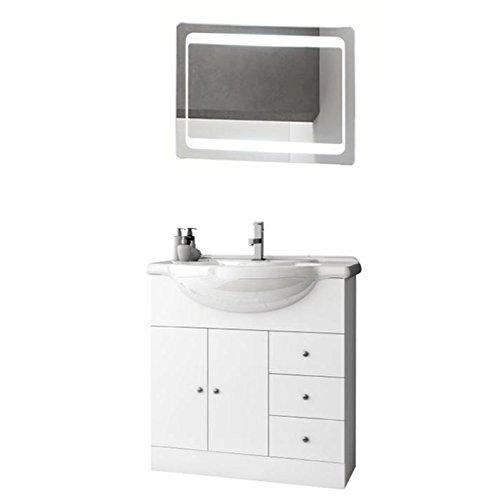 ACF LON10-637509939571 London Collection Vanity Set, Glossy White
