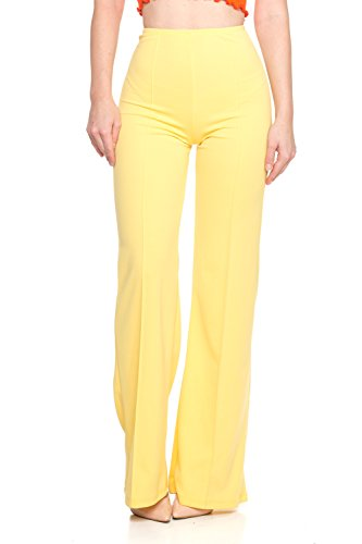 Cemi Ceri Women's Junior Plus J2 Love High Waist Bell Bottom Flare Pants, 1X, (Flare Pant)