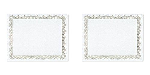 Geographics - Parchment Paper Certificates, 8-1/2 x 11, Optima Gold Border, 25 per Pack (Paper Certificate Recognition)