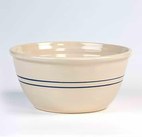 Heritage Blue Stripe Stoneware Mixing Bowl - 16