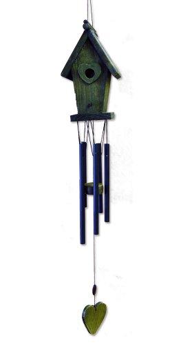 Jade Garden 386990 Green Bird House Wind Chime