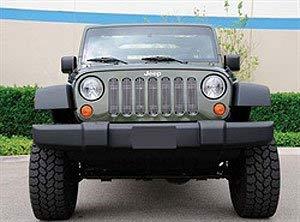 (TRex Grilles 30481 Vertical Aluminum Polished Finish Billet Grille Bolt-on for Jeep Wrangler)