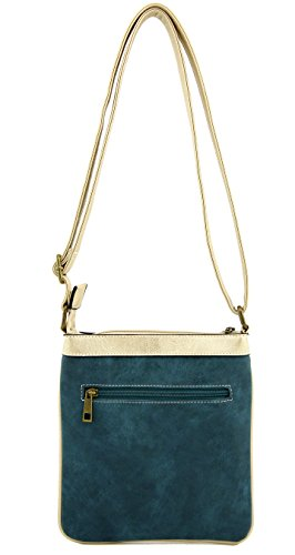 Womens 17582 Purse Y Bag C Small Messenger Turquoise Crossbody Vintage Leather BzwxFg
