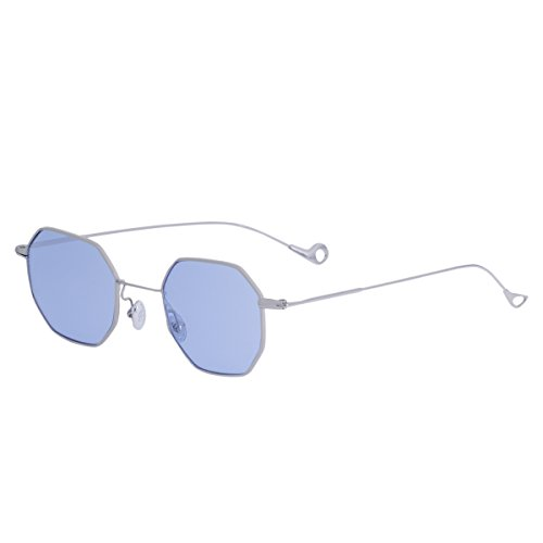 Sunglasses for women RAYSUN Small Metal Frame Asymmetry Temple Unisex Square Oval Sun - Of Sunglasses Temple