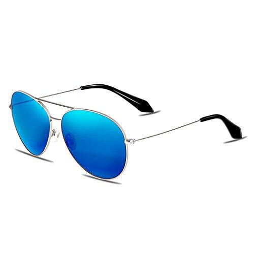 NUBAO Sunglasses Woman Driving Anti-ultraviolet Polarized Sunglasses Sunglasses Face Was Thin Outdoor Travel Beach Break Essential (Color : Blue) (Was Sonnenbrille)
