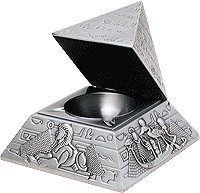 Talon Development Pyramid Ashtray with Bas Reliefs Style TAL486