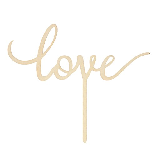 - LOVENJOY with Gift Box LOVE Monogram Wedding Engagement Cake Topper Rustic Wood (6.7-inch) (Updated)