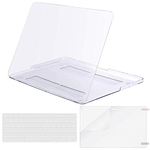 MOSISO Case Only Compatible Older Version MacBook Pro Retina 13 Inch (Model: A1502 & A1425) (Release 2015 - end 2012), Plastic Hard Shell & Keyboard Cover & Screen Protector, Crystal Clear