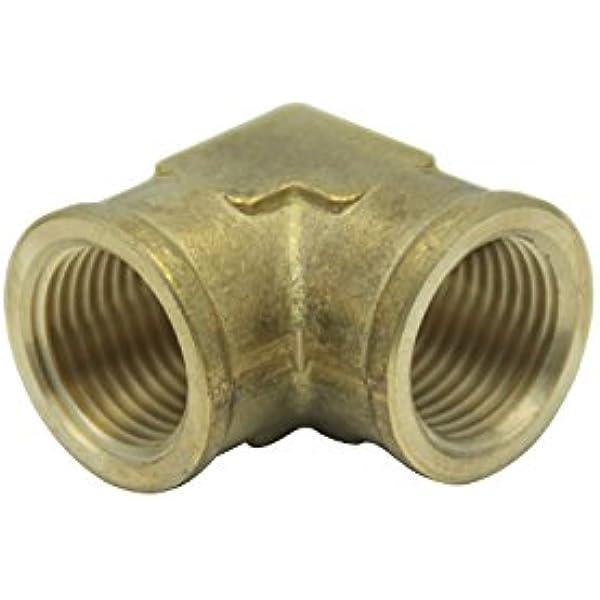 "Brass 1//2/"" BSP Thread Half Inch Elbow Female To Female Fitting Connector L F-F"