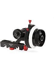 FILMCITY HS-2 Professional Hi-Grade Follow Focus with A/B Hard Stops, Flexible Gear Belt & Speed Crank   For 15mm Rod Support & DSLR Video Camera Stabilizer Shoulder Rig (HS-2)