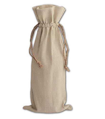 Wedding Bridal Store,(Set of 12) Wine Bag, Linen Wine Bags,Perfect for Wedding Favor Bags, Party Bags, Promotional Wine Bags