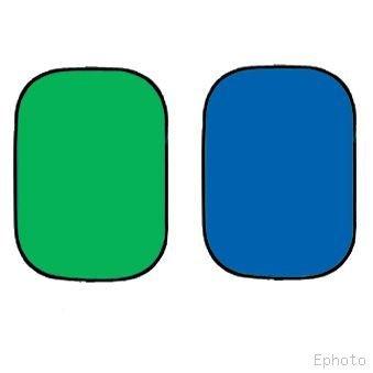 ePhoto Twist Flex ChromaKey Green Blue Backdrop Background twistflex,Green/Blue