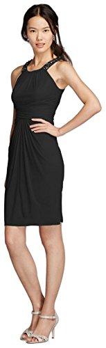 short-mesh-bridesmaid-dress-with-high-neck-beading-style-f19112-black-6
