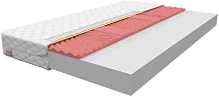 FDM Colchón 7 Zonas de Espuma visco termoplástico 80 x 200 90 x 200 120 x 200 140 x 200 Colchón de Espuma Espuma colchón Espuma de Poliuretano Funda Lavable ...
