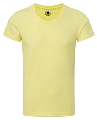 russell-childrens-boys-short-sleeve-v-neck-hd-t-shirt-5-6-years-yellow-marl