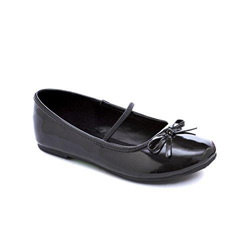 Patent Ballerina Slipper Black - Ellie Shoes 0