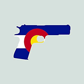Colorado flag 1911 sticker self adhesive vinyl decal fa graphix co 2a gun rights molon labe