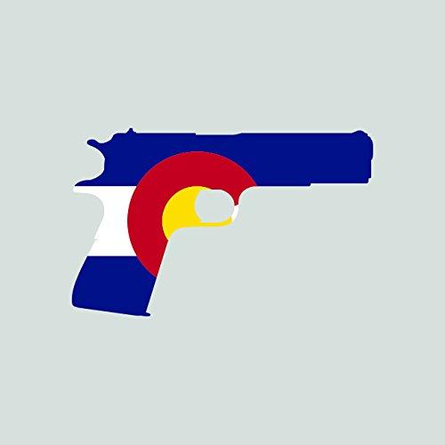 Colorado Flag 1911 Sticker Self Adhesive Vinyl Decal FA Graphix CO 2a gun rights molon labe pro