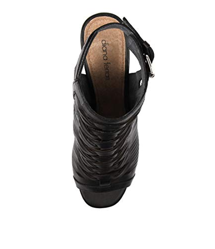 Shoes Regal FERRARI Black Womens Heels Black High Sandals Black Df DIANA Leather Leather 01wUCq